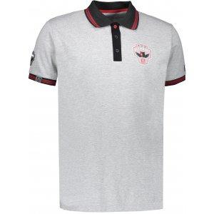 Pánské triko s límečkem ALTISPORT ALIAR ALMS17054 ŠEDÝ MELÍR