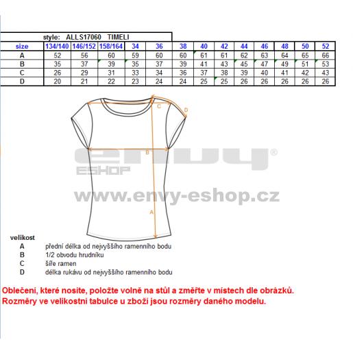Dámské triko s krátkým rukávem ALTISPORT TIMELI ALLS17060 HNĚDÁ