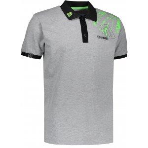 Pánské triko s límečkem ALTISPORT KITTES ALMS17056 ŠEDÝ MELÍR