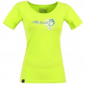Dámské triko s krátkým rukávem ALTISPORT DEODA ALLS17059 SVĚTLE ZELENÁ