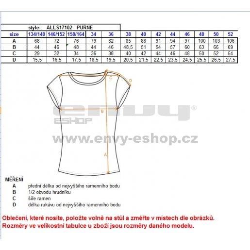 Dámské šaty ALTISPORT PURNE ALLS17102 ČERNÁ