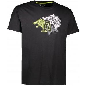 Pánské triko s krátkým rukávem ALTISPORT BARKUL ALMS17070 ČERNÁ
