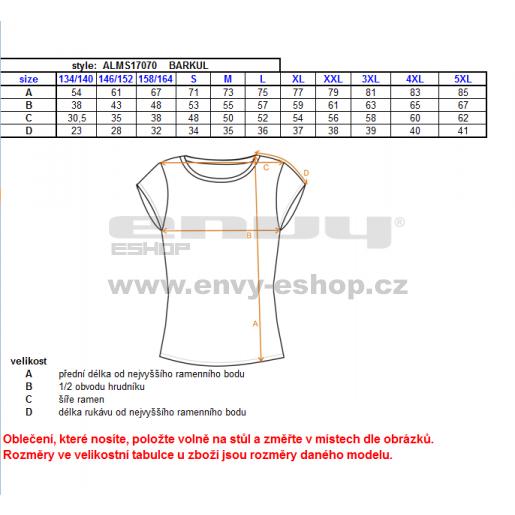Pánské triko s krátkým rukávem ALTISPORT BARKUL ALMS17070 MODRÁ
