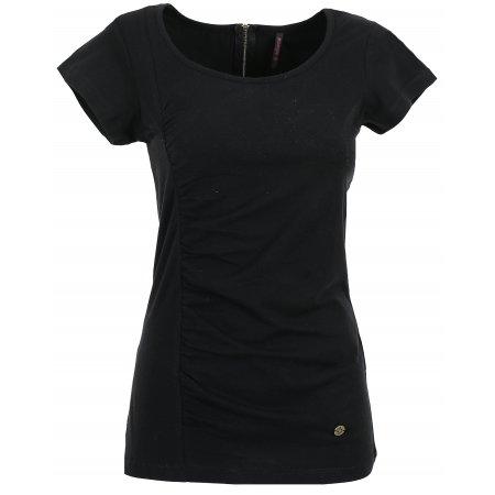 Dámské triko s krátkým rukávem KIXMI CLAIRE AALTS17106 ČERNÁ