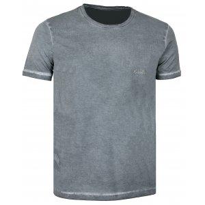 Pánské triko s krátkým rukávem KIXMI COLLINS AAMTS17154 ČERNÁ