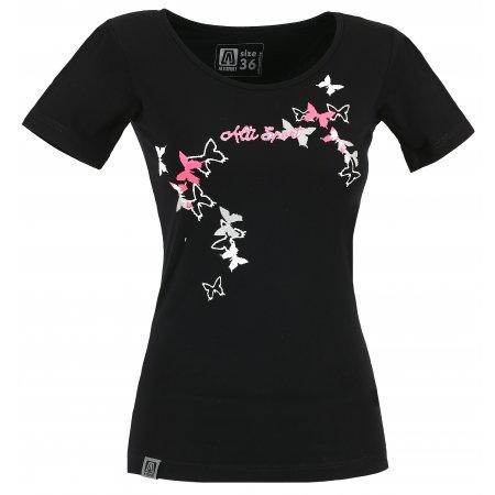 Dámské triko s krátkým rukávem ALTISPORT TIMELI ALLS17060 ČERNÁ