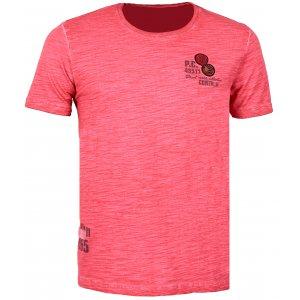 Pánské triko s krátkým rukávem KIXMI CADWELL AAMTS17150 ČERVENÁ