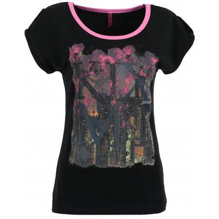 Dámské triko s krátkým rukávem KIXMI CHRISTEL AALTS17105 ČERNÁ