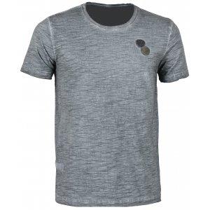 Pánské triko s krátkým rukávem KIXMI CADWELL AAMTS17150 ČERNÁ
