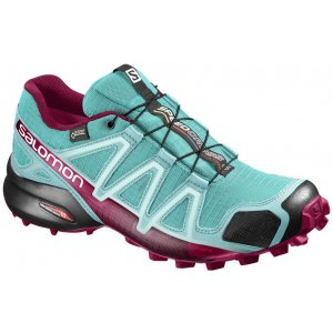 Dámské běžecké boty SALOMON SPEEDCROSS 4 GTX® W L39466700 CERAMIC ARUBA  BLUE SANGRIA d47c566e6c
