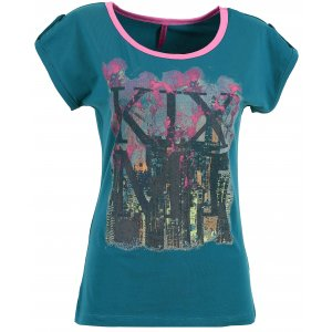 Dámské triko s krátkým rukávem KIXMI CHRISTEL AALTS17105 SMARAGDOVÁ ZELENÁ