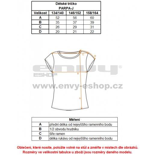 Dětské triko s krátkým rukávem ALTISPORT PARPA-J ALJS17058 ČERNÁ