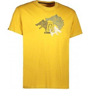 Pánské triko s krátkým rukávem ALTISPORT BARKUL ALMS17070 ŽLUTÁ