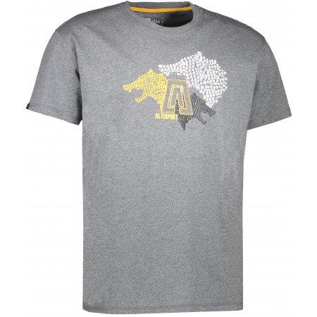 Pánské triko s krátkým rukávem ALTISPORT BARKUL ALMS17070 ŠEDÝ MELÍR