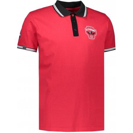 Pánské triko s límečkem ALTISPORT ALIAR ALMS17054 ČERVENÁ