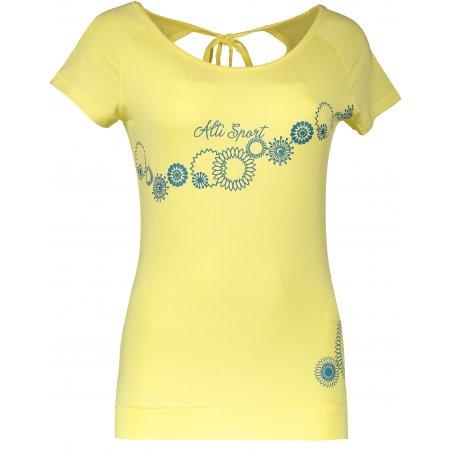Dámské triko s krátkým rukávem ALTISPORT WALA ALLS17068 ŽLUTÁ