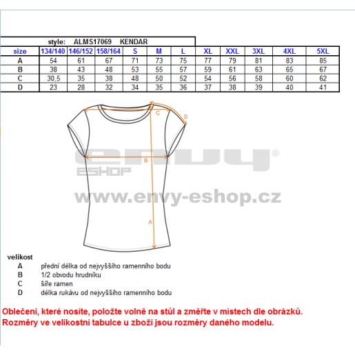 Pánské triko s krátkým rukávem ALTISPORT KENDAR ALMS17069 ČERVENÁ
