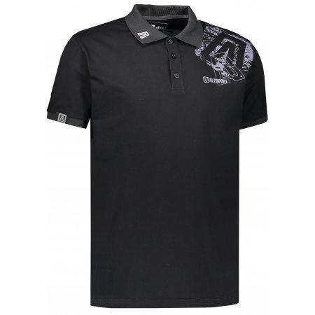 Pánské triko s límečkem ALTISPORT KITTES ALMS17056 ČERNÁ