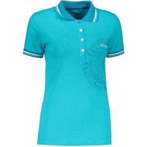 Dámské triko s límečkem ALTISPORT ALIARA TMAVĚ MODRÁ