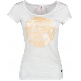 Dámské triko s krátkým rukávem KIXMI CAITIE BÍLÁ