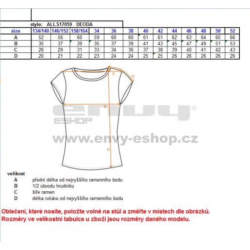 Dámské triko s krátkým rukávem ALTISPORT DEODA ALLS17059 MODRÁ