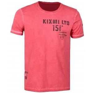 Pánské triko s krátkým rukávem KIXMI COLLINS AAMTS17154 ČERVENÁ