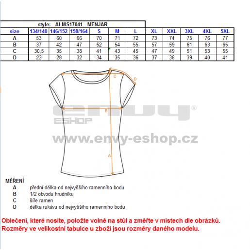 Pánské funkční triko ALTISPORT MENJAR ALMS17041 ČERNÁ