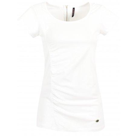 Dámské triko s krátkým rukávem KIXMI CLAIRE AALTS17106 BÍLÁ