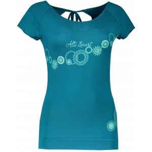 Dámské triko s krátkým rukávem ALTISPORT WALA ALLS17068 TYRKYSOVÁ