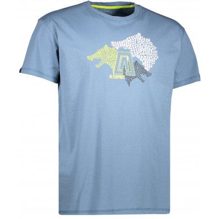 Pánské triko s krátkým rukávem ALTISPORT BARKUL ALMS17070 TMAVĚ MODRÁ