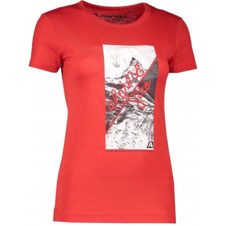 Dámské triko s krátkým rukávem ALPINE PRO SASHA LTSK223 ČERVENÁ