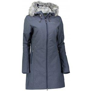 Dámský zateplený softshellový kabát ALPINE PRO PRISCILLA 2 INS. LCTK023 TMAVĚ MODRÁ