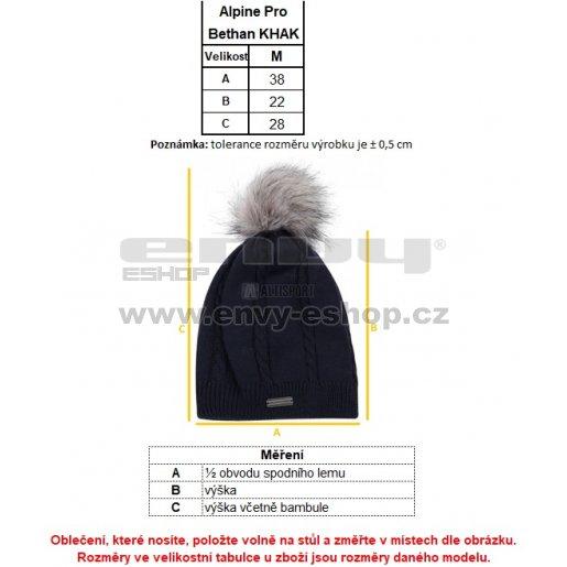Dětská zimní čepice ALPINE PRO BETHAN KHAK022 RŮŽOVÁ