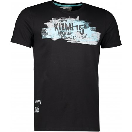 Pánské triko KIXMI DARIUS AAMTW17151 ČERNÁ