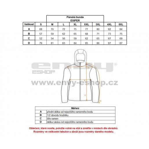 Pánská zimní bunda ALTISPORT EXIPER ALMW17011 ČERNÁ