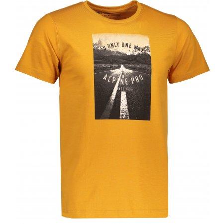 Pánské triko s krátkým rukávem ALPINE PRO AMIT 4 MTSK221 ŽLUTÁ