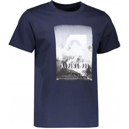 Pánské triko s krátkým rukávem ALPINE PRO ABIC 4 MTSK216 TMAVĚ MODRÁ