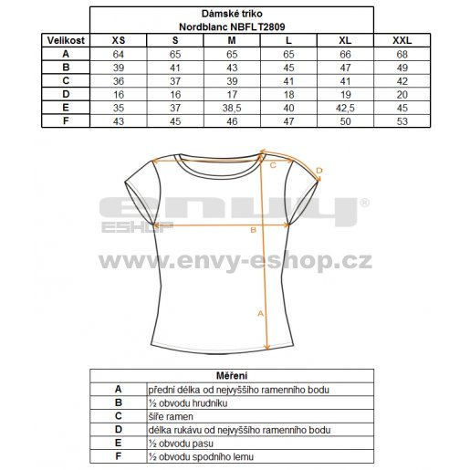 Dámské tričko s krátkým rukávem NORDBLANC NBFLT2809 ŽLUTÁ