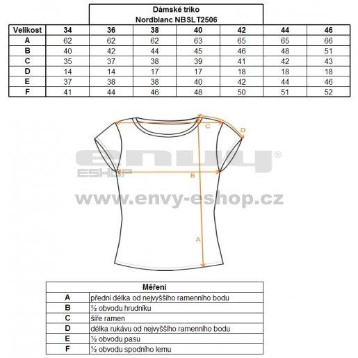 Dámské tričko s krátkým rukávem NORDBLANC NBSLT2506 ZEMITĚ ČERVENÝ DIAMANT