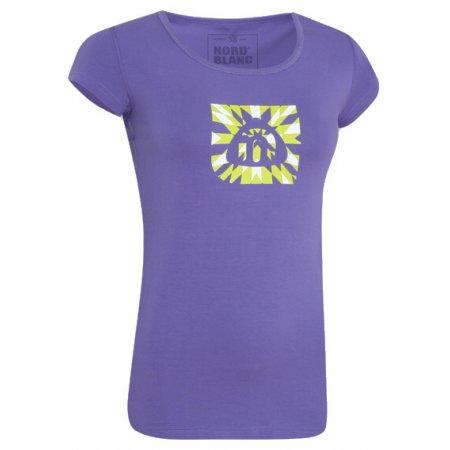 Dámské tričko s krátkým rukávem NORDBLANC NBFLT2830 FIALOVÝ GEPARD