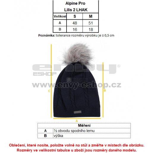 Dámská zimní čepice ALPINE PRO LILIS 2 LHAK033 BÍLÁ