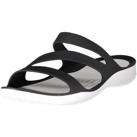 Dámské pantofle CROCS SWIFTWATER SANDAL W 203998-066 BLACK/WHITE