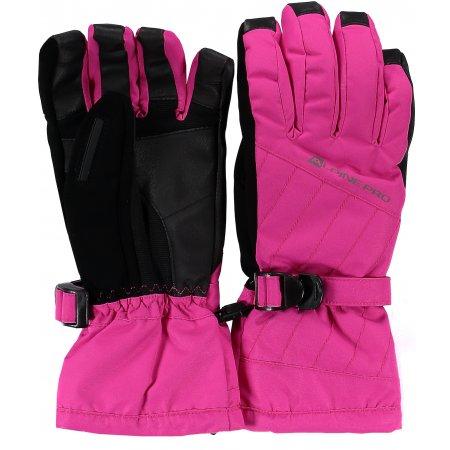 Dámské lyžařské rukavice ALPINE PRO RENA LGLK014 RŮŽOVÁ