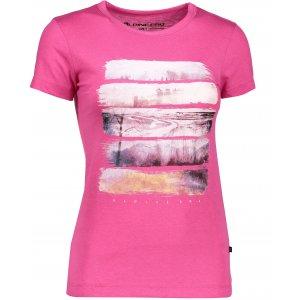 Dámské triko s krátkým rukávem ALPINE PRO SASHA LTSK223 RŮŽOVÁ
