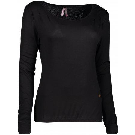 Dámské triko s dlouhým rukávem KIXMI DORRI AALTW17106 ČERNÁ