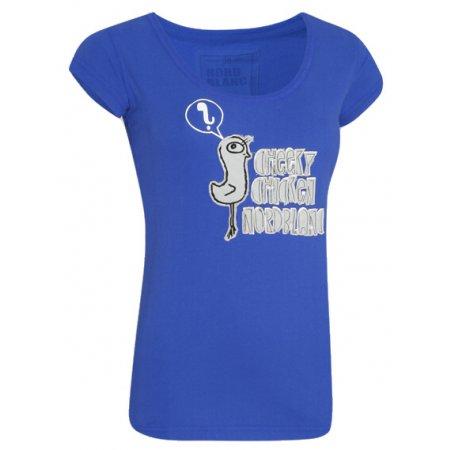 Dámské tričko s krátkým rukávem NORDBLANC NBFLT2831 MODRÝ GEPARD