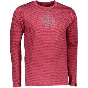 Pánské triko s dlouhým rukávem ALPINE PRO PERKOS 3 MTSK219 TMAVĚ RŮŽOVÁ