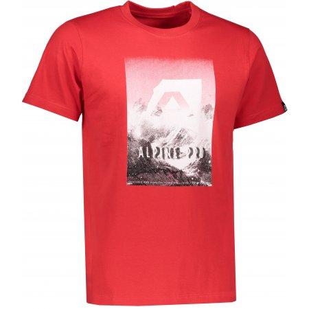 Pánské triko s krátkým rukávem ALPINE PRO ABIC 4 MTSK216 ČERVENÁ