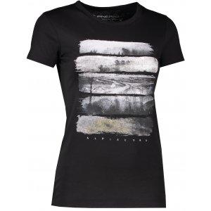 Dámské triko s krátkým rukávem ALPINE PRO SASHA LTSK223 ČERNÁ VZOR