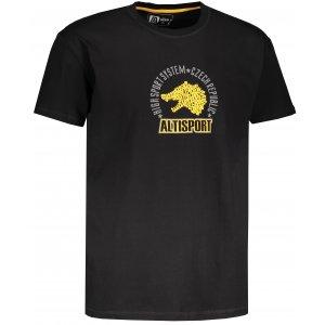 Pánské tričko s krátkým rukávem ALTISPORT LOULAD ČERNÁ